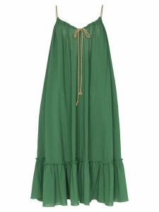 Three Graces Agatha midi string tie layered dress - Green