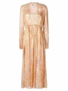 Forte Forte snakeskin print layered dress - Gold