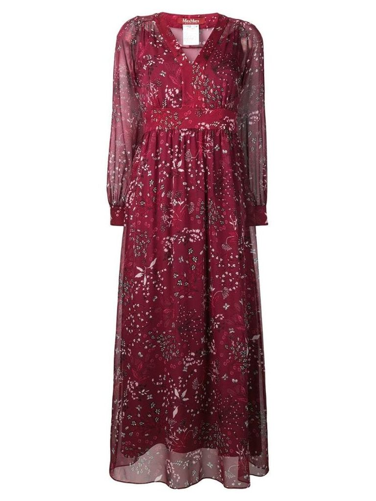 Max Mara Studio long floral print dress - Red