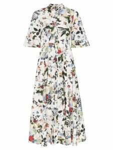 Erdem Kaiya floral print shirt dress - White