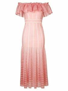 Alexander McQueen off-shoulder long dress - Pink