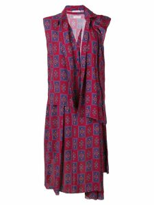Balenciaga Twinset shirt dress - Red