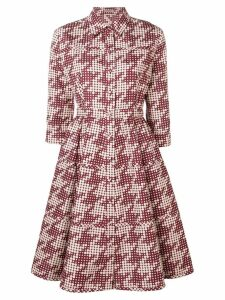 Bottega Veneta dotted pattern shirt dress - Red