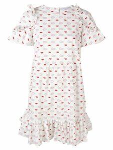 Vivetta lip print dress - White