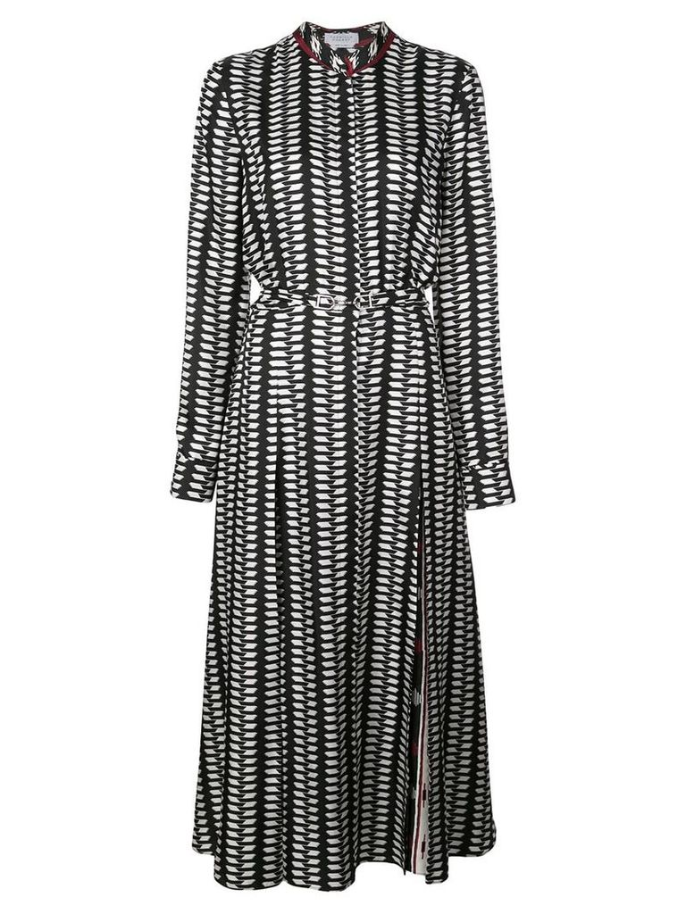 Gabriela Hearst printed belted shirt dress - Black