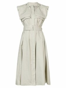 Proenza Schouler Belted Trench Dress - Neutrals