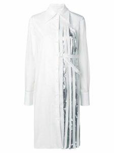 Maison Margiela pleated panel shirt dress - White