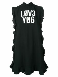 Red Valentino Love You satin-back crepe dress - Black