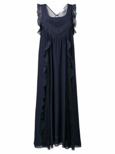 Red Valentino ruffle trimmed dress - Blue