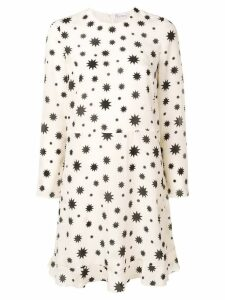 Red Valentino decagram star print dress - White