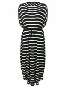 Mm6 Maison Margiela striped oversized dress - Black