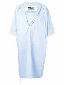 Mm6 Maison Margiela oversized cape dress - Blue