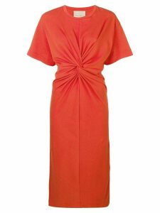 Erika Cavallini gathered front dress - Orange