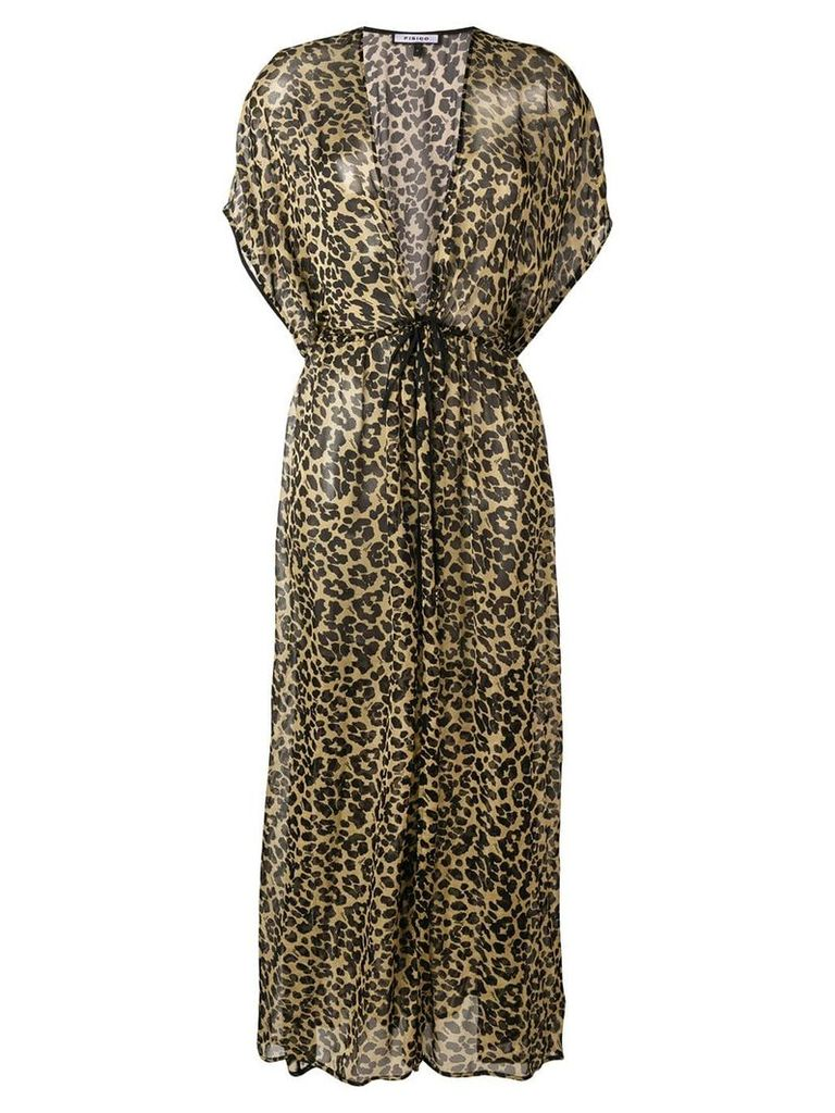 Fisico leopard print maxi dress - Black