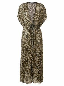 Fisico leopard print maxi dress - Black