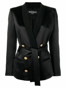 Balmain tailored belted blazer - Black