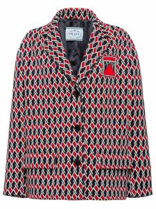 Prada Jacquard caban jacket - Blue