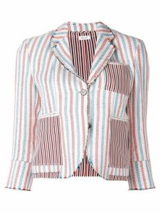 Thom Browne Inside-Out Wide Stripe Sport Coat - White