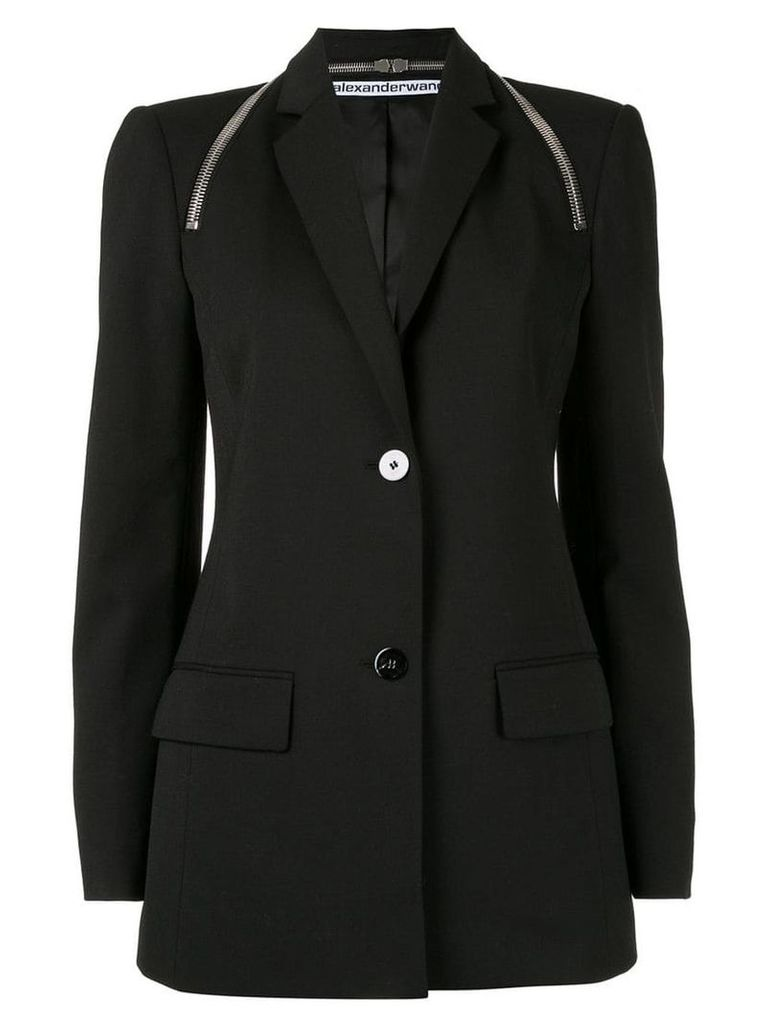 Alexander Wang tailored zipper detail blazer - Black