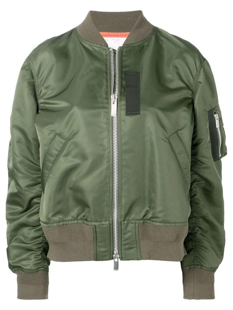 Sacai sleeve pocket bomber jacket - Green