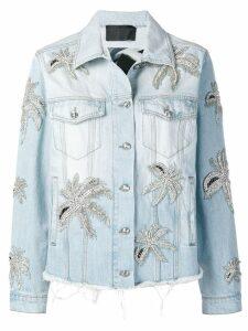 Philipp Plein Aloha Plein denim jacket - Blue