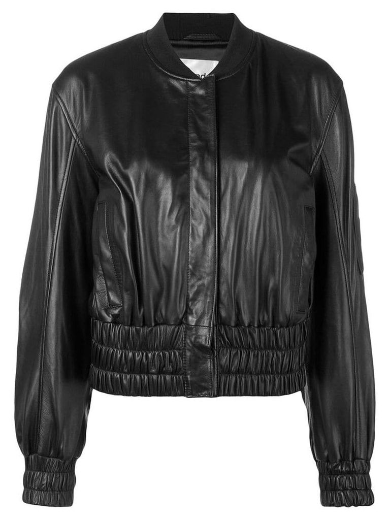 Stand elasticated bomber jacket - Black