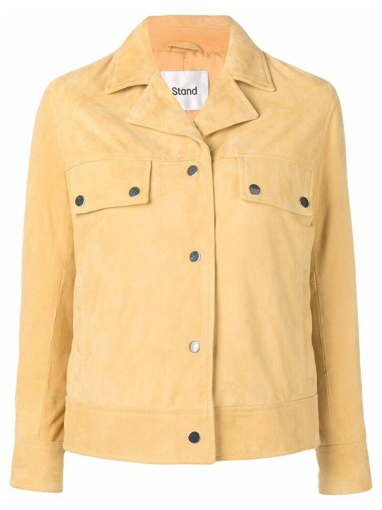 Stand fitted shirt jacket - Yellow