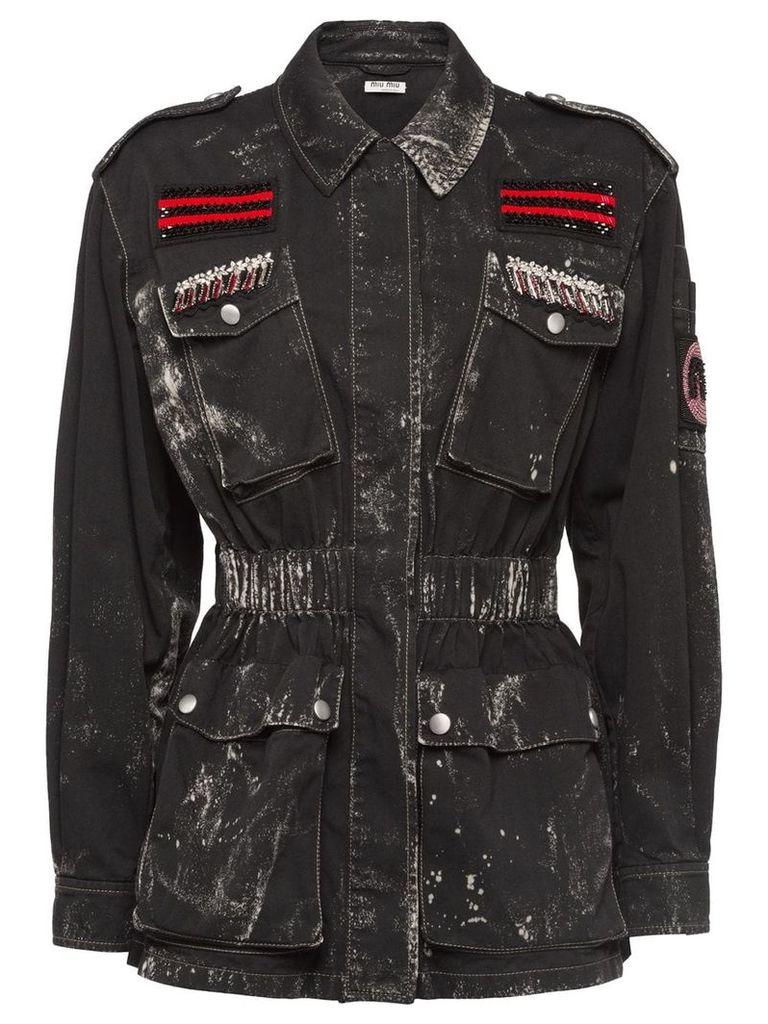 Miu Miu gabardine jacket - Black