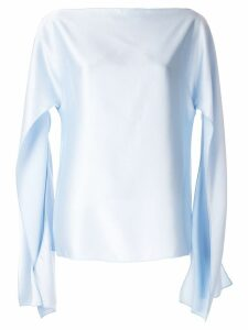 Christopher Esber slit sleeve blouse - Blue