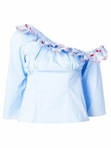 Vivetta hand-shaped embroidered top - Blue