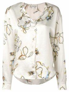 Forte Forte V-neck buttoned blouse - Neutrals