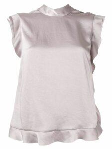 Red Valentino ruffled trim blouse - Grey