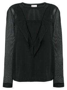 Red Valentino ruffle trim blouse - Black