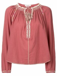 Isabel Marant Étoile Rina embroidered blouse - Pink