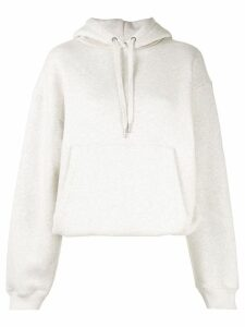 T By Alexander Wang dense fleece hoodie - Neutrals