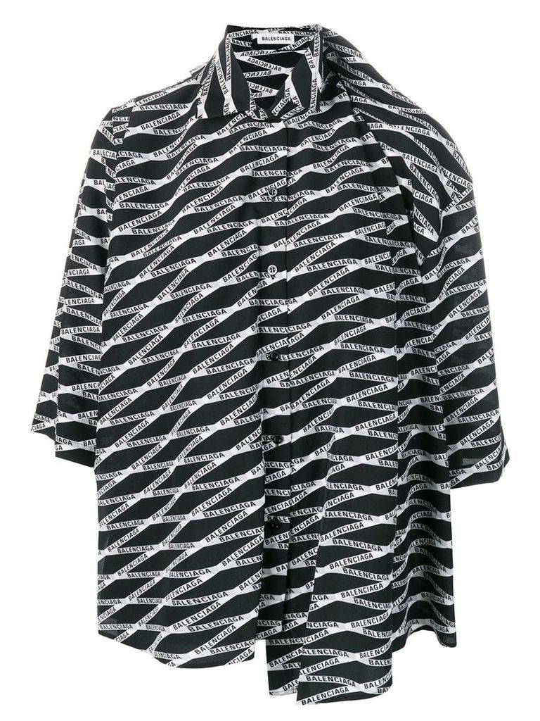Balenciaga monogram double shirt - Black