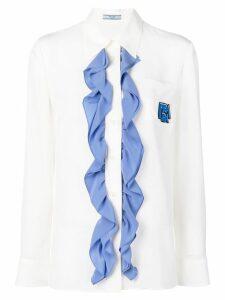 Prada contrast ruffle shirt - White