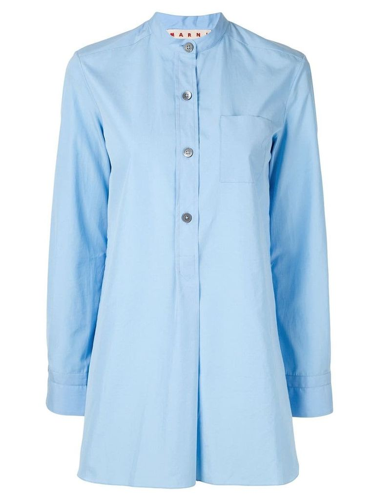 Marni Nehru-neck shirt - Blue