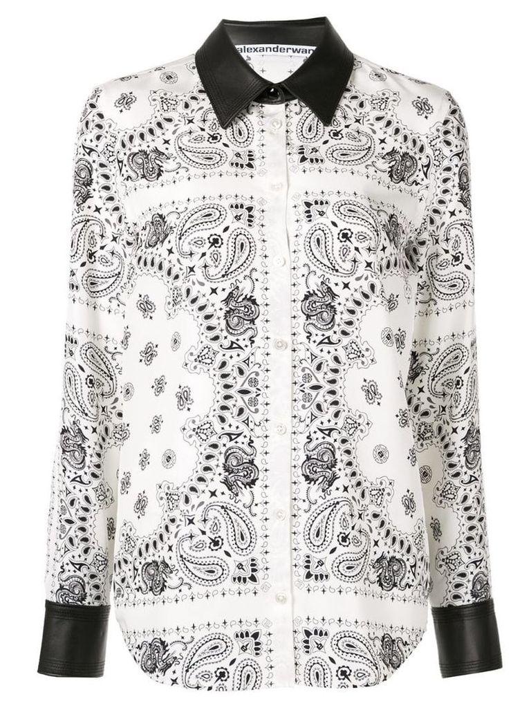 Alexander Wang bandana print shirt - White