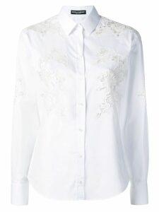 Dolce & Gabbana lace inserts shirt - White
