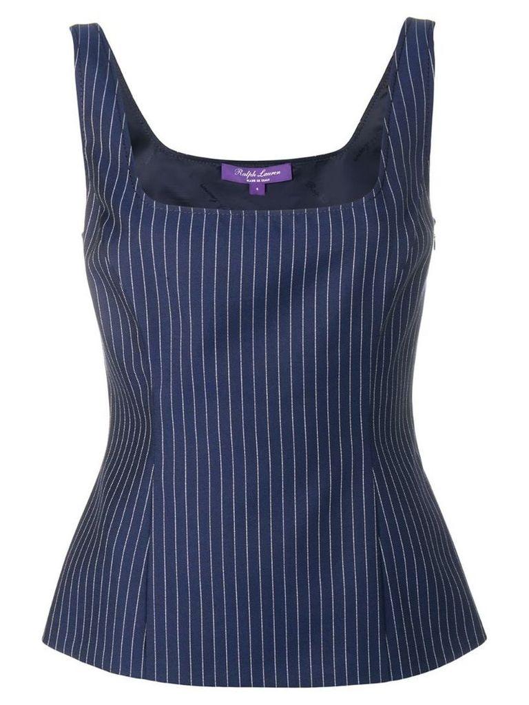 Ralph Lauren Collection stripe pattern top - Blue