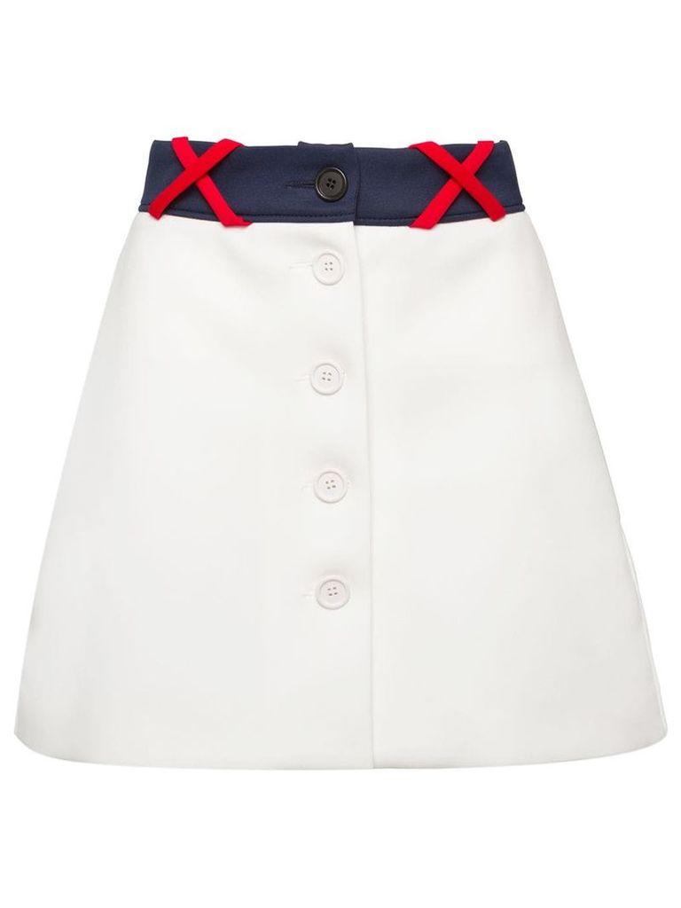 Miu Miu Techno skirt - White