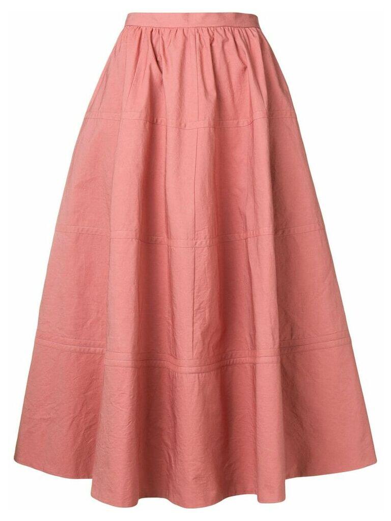 Bottega Veneta flared A-line skirt - Pink