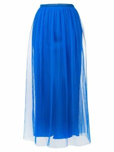Maison Margiela sheer layered micropleated midi skirt - Blue