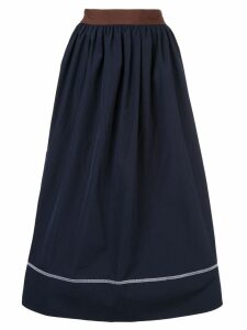Marni contrast piping midi skirt - Blue
