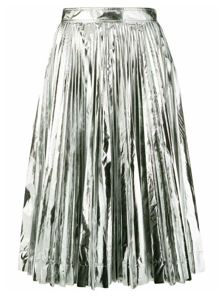 Calvin Klein 205W39nyc metallic pleated skirt - Silver