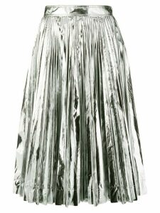 Calvin Klein 205W39nyc metallic pleated skirt - Silver