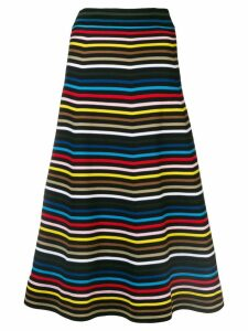 Sonia Rykiel striped A-line skirt - Black