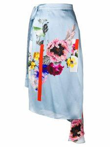 Preen By Thornton Bregazzi Nadine sketchbook floral skirt - Blue