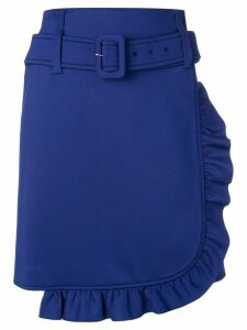Prada belted asymmetric skirt - Blue